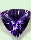 amethyst gemstone with a good cut