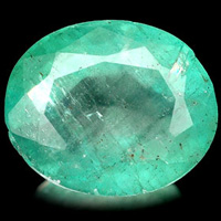 poorly cut  emerald