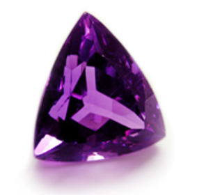 amethyst trillion with a good cut
