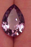light colored pear cut amethyst