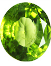 nice color peridot with inclusions