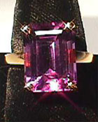 amethyst gemstone with red flashes