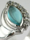 small blue topaz cabochon