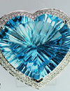 blue topaz with a nice color and fancy cut