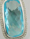 topaz with weak color and fancy cut