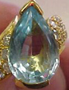 weak color topaz